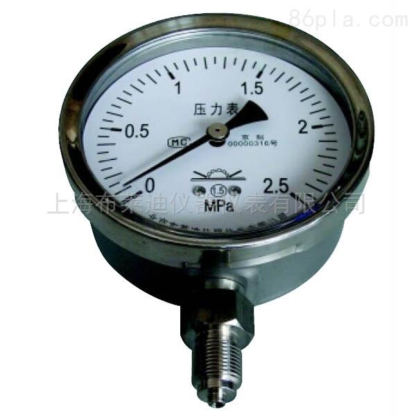 YTN-150.512外卡两件式一般压力表耐震
